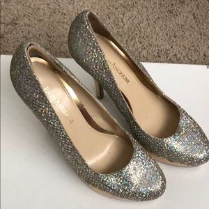 Silver/gold platform pumps by Enzo Angiolini!